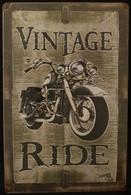 'Vintage Ride' Metal Sign
