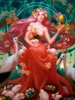 OSTARA March 20th Spring Equinox Sabbat custom Wish Coven magick Blossom your Blessings