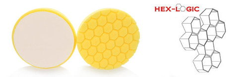"Chemical Guys 5.5"" HEX LOGIC  Pads Yellow Cutting Pad- Chemical Guys premium Pads (5.5""inch)"