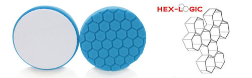 "Chemical Guys 6.5"" HEX LOGIC Pad BLUE LIGHT CLEANING, GLAZES AND GLOSS ENHANCING PAD (6.5""inch)"