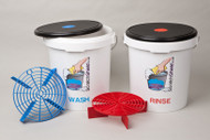 Wash & Rinse Buckets with Seat Lids and Filters