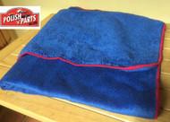 """Microfibre BLUE Velour Car Wash Towel. 440gsm. 24"""" x 36"""""""
