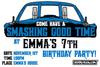 SMASHING BIRTHDAY PARTY INVITATIONS