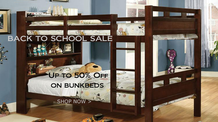 Bunk Bed with Bookcase