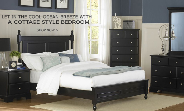 Black Cootage Style Bedroom