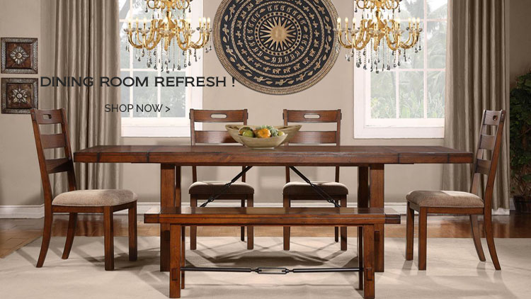 Transitional Dining Room Table Set