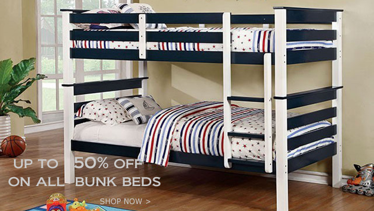 Blue White Twin Bunk Bed