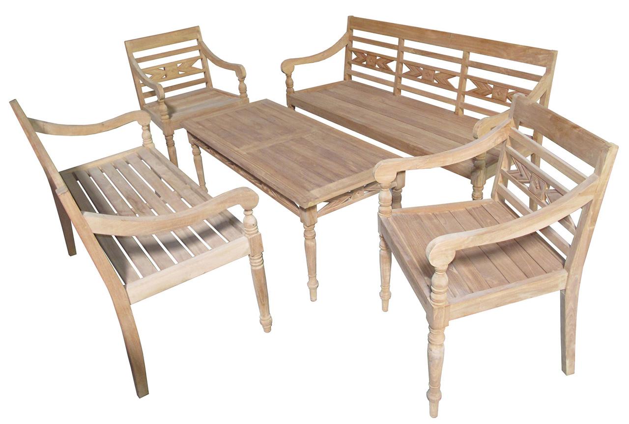 teak wood outdoor conversation set