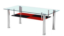 Gulara Glass Rectangular Chromed Cocktail Table