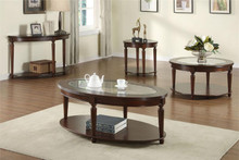 Granvia Oval Glass Coffee Table