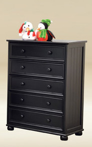 5-Drawer Chest In Black