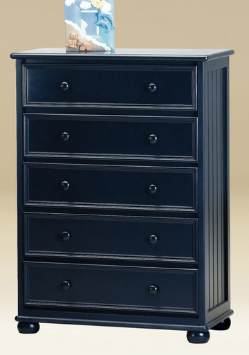 5-Drawer Chest In Navy Blue Finish