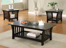 Milford Black Coffee Table Set