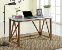 Wood Galvanized Iron Top Writing Desk