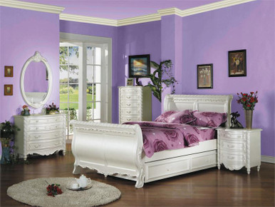 Pearl Full Sleigh Bed With Trundle