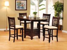 Dark Walnut Bar Dining Table Set