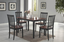 Casual Dark Oak Black Kitchen Table and Chairs