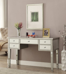 Zarina Antique Silver Mirrored Vanity Table | Vanity Table