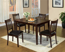 Espresso Dining Table and Chairs