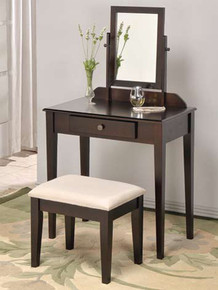 Contemporary Espresso Makeup Table