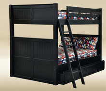 Black Wood Full Over Full Bunk Bed
