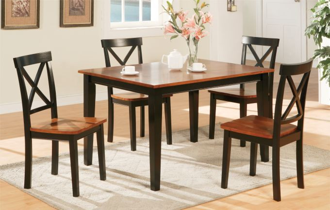 Kitchen Table And Chairs Black Cherry Small