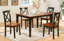 Two Tone Medium Cherry Black Kitchen Table and Chairs