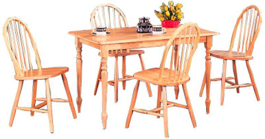 Butcher Block Kitchen Table W/ Spindle Chairs