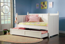 White Semi Gloss Day Trundle Bed
