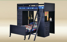 Twin Loft Bed with Built-in Desk