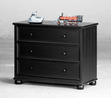 3-Drawer Chest In Black Finish