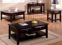Baldwin Espresso Coffee Table w/ Storage Drawers