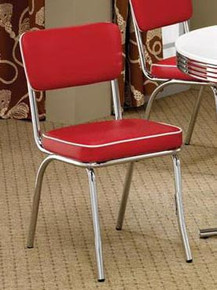Retro Chrome Red Chairs
