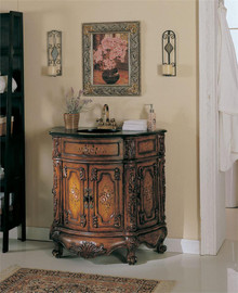 Francis Cherry Vanity Sink Cabinet w/ Granite Top