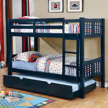 Felix Mission Wood Twin Bunk Bed | Blue Bunk Bed