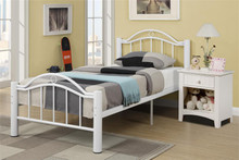 Reese White Metal Full Bed