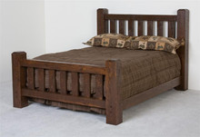 Barnwood Lumberjack Queen Bed