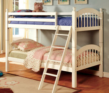 White Twin Over Twin Bunk Bed | Twin Bunk Bed