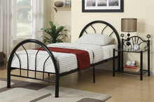 Dalton Black Metal Full Bed