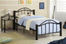 Dallas Black Metal Twin Bed