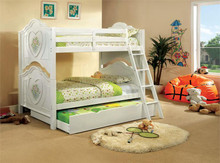 Florentine White Twin Over Twin Bunk Bed