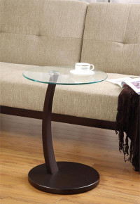 Coaster Furniture Carlota Cappuccino Round Snack Table