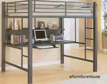 Metal Tube Full Loft Bed