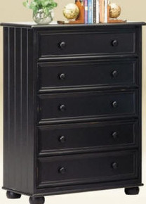 Montclair Black 5 Drawers Chest