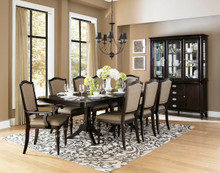 Espresso Transitional Dining Table Set