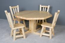 Octagon Log Dinner Table