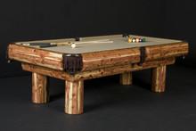 Red Cedar Log Billiard Pool Table