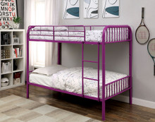 Gilbert Purple Metal Twin Bunk Bed