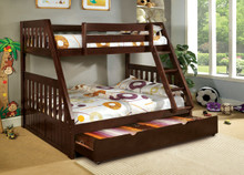 Del Rey Twin Over Full Bunk Bed | Twin Over Full Bunk Bed