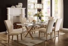 Weathered Oak Pedestal Dining Table